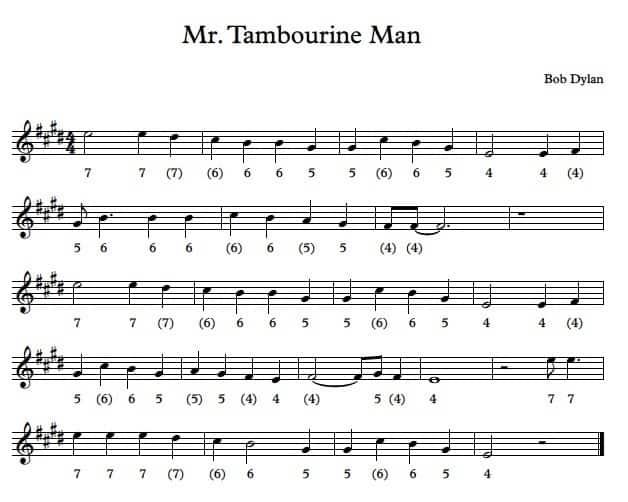 Mr Tambourine Man Bob Dylan